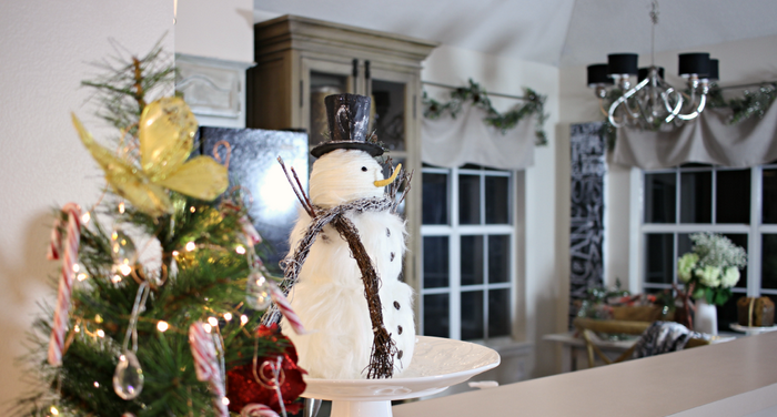 invierno opciones decorar cocina arbol pequeno ideas