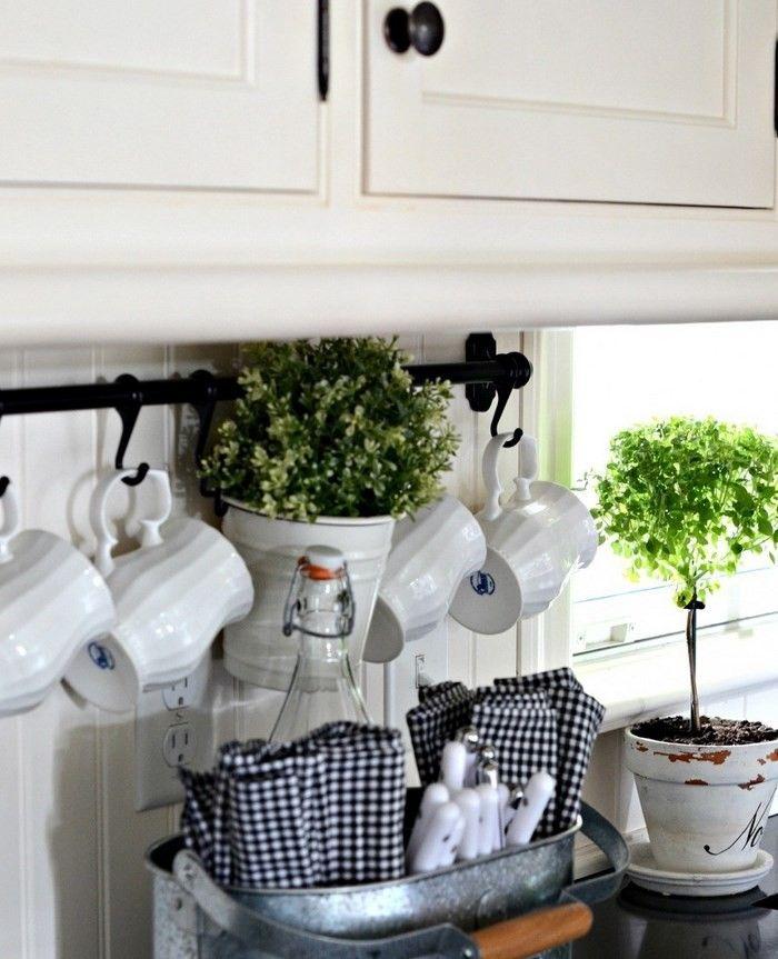 invierno opciones decorar cocina arboles macetas ideas