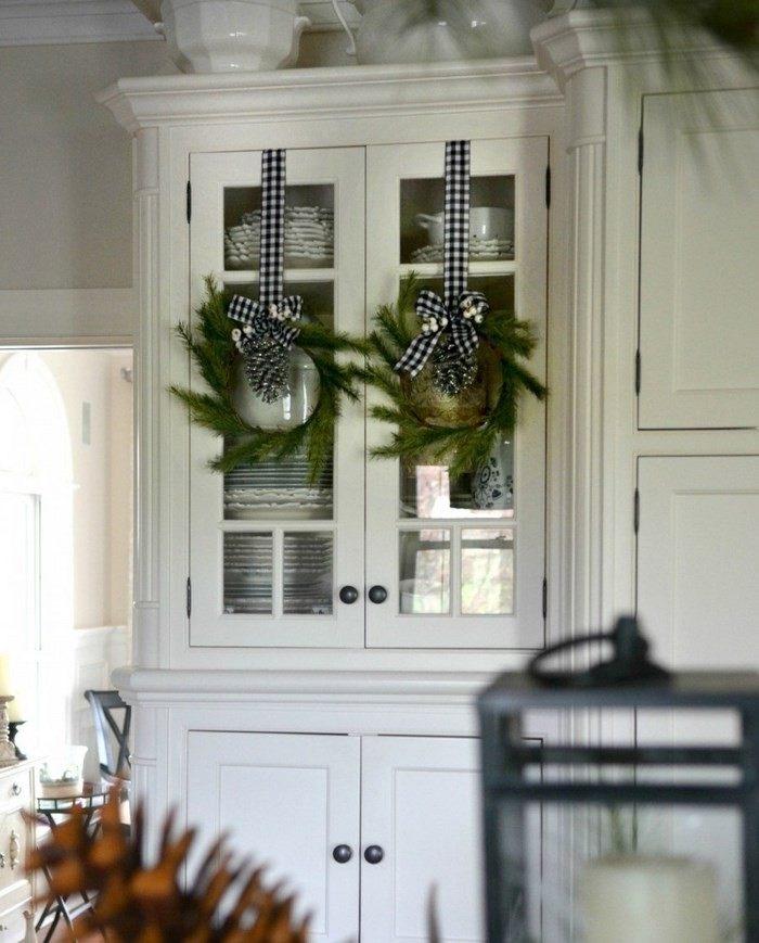 invierno opciones decorar cocina armario puertas cristal ideas