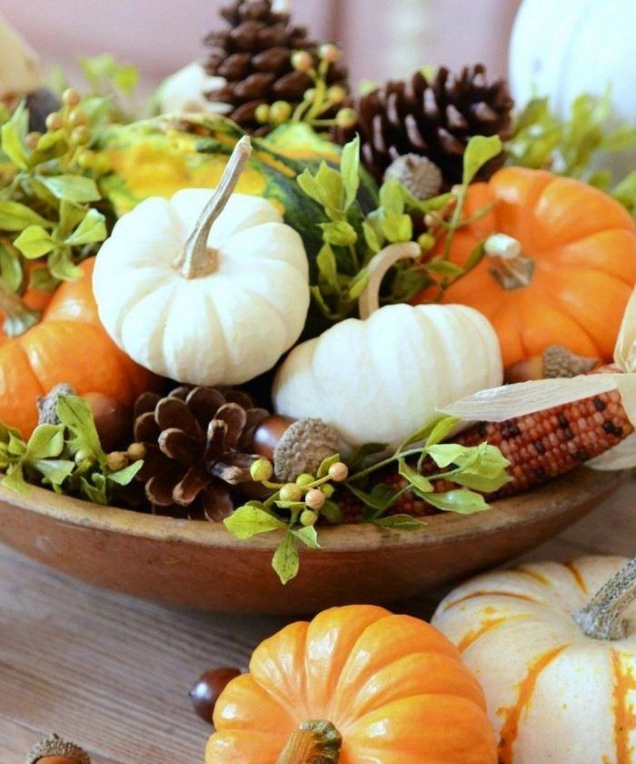 invierno-opciones-decorar-cocina-calabaza-pinas-plato