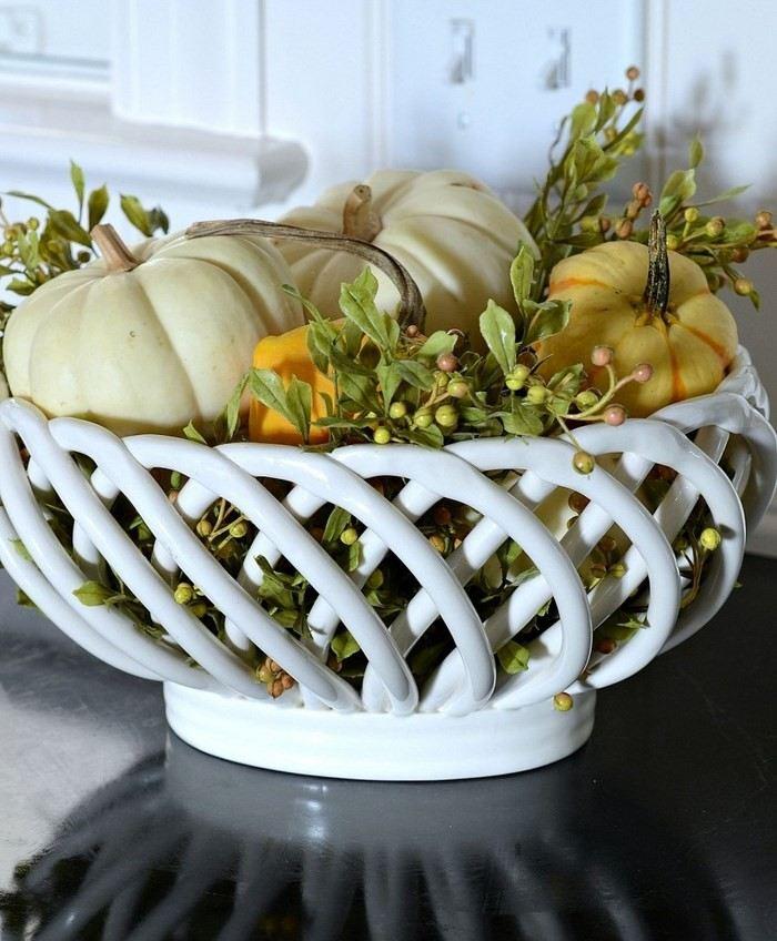 opciones decorar cocina calabazas mesa ideas