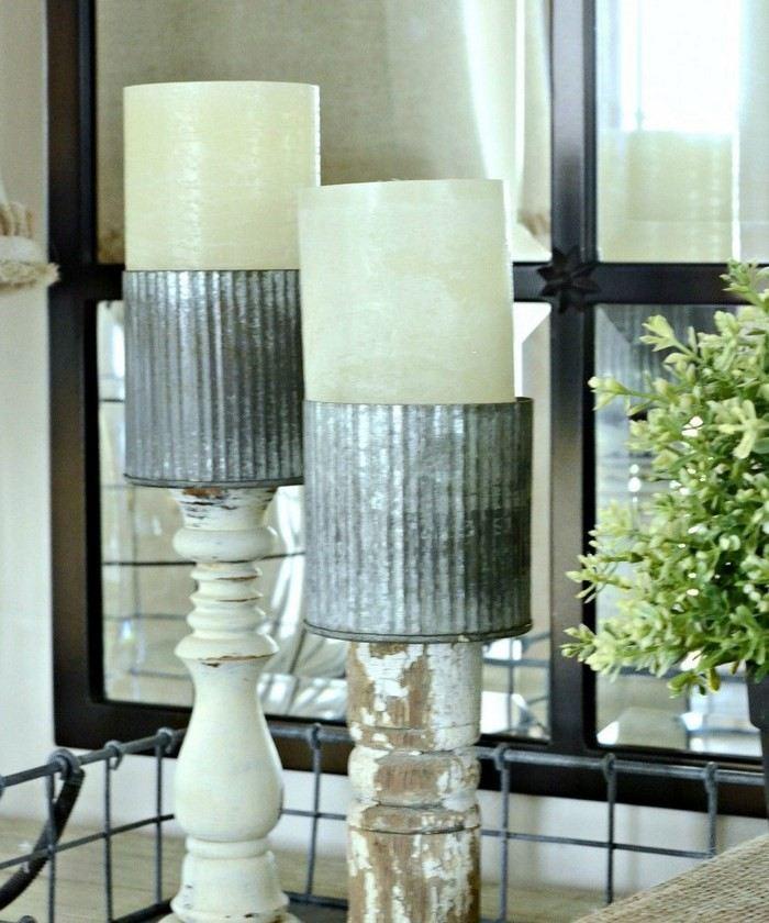 invierno opciones decorar cocina candelabros ideas