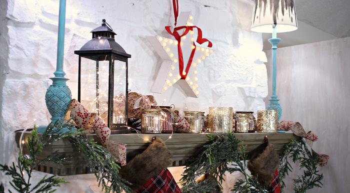invierno opciones decorar cocina chimenea ideas