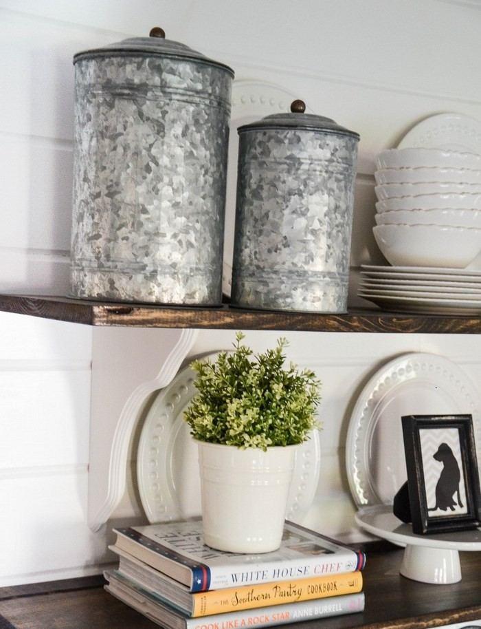 invierno opciones decorar cocina estanterias abiertas ideas