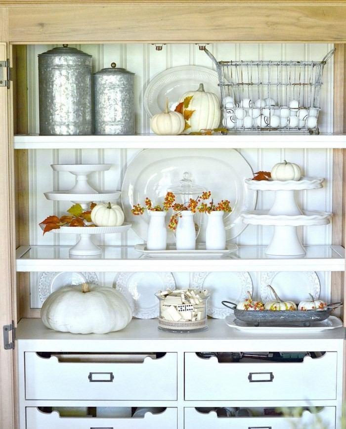 opciones decorar cocina estanterias blancas ideas