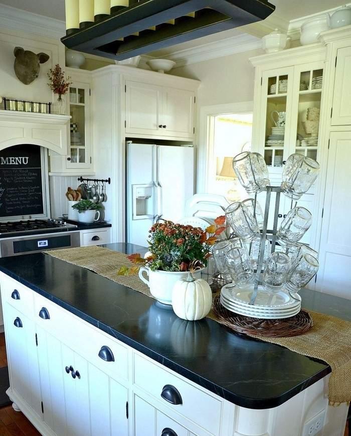 opciones decorar cocina isla grande ideas