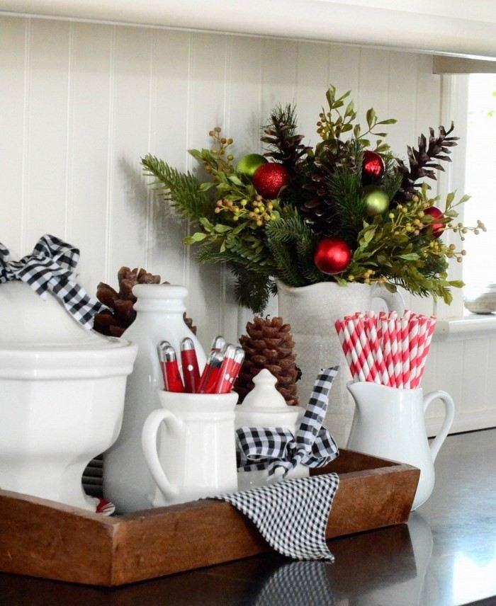invierno opciones decorar cocina navidad ideas