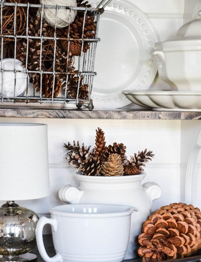 Invierno opciones e ideas para decorar la cocina - Pinas de pino para decorar ...