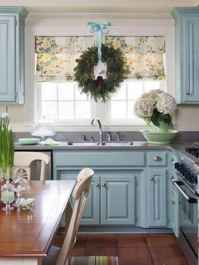 opciones decorar cocina ventana guirnalda ideas