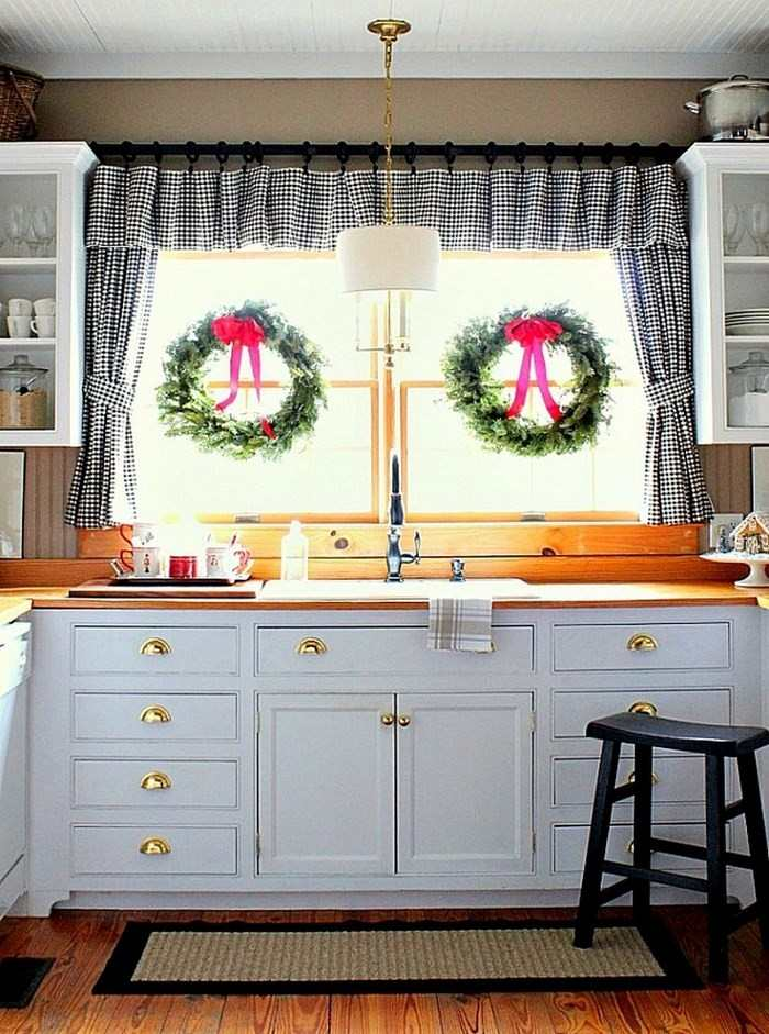 opciones decorar cocina ventana guirnaldas ideas
