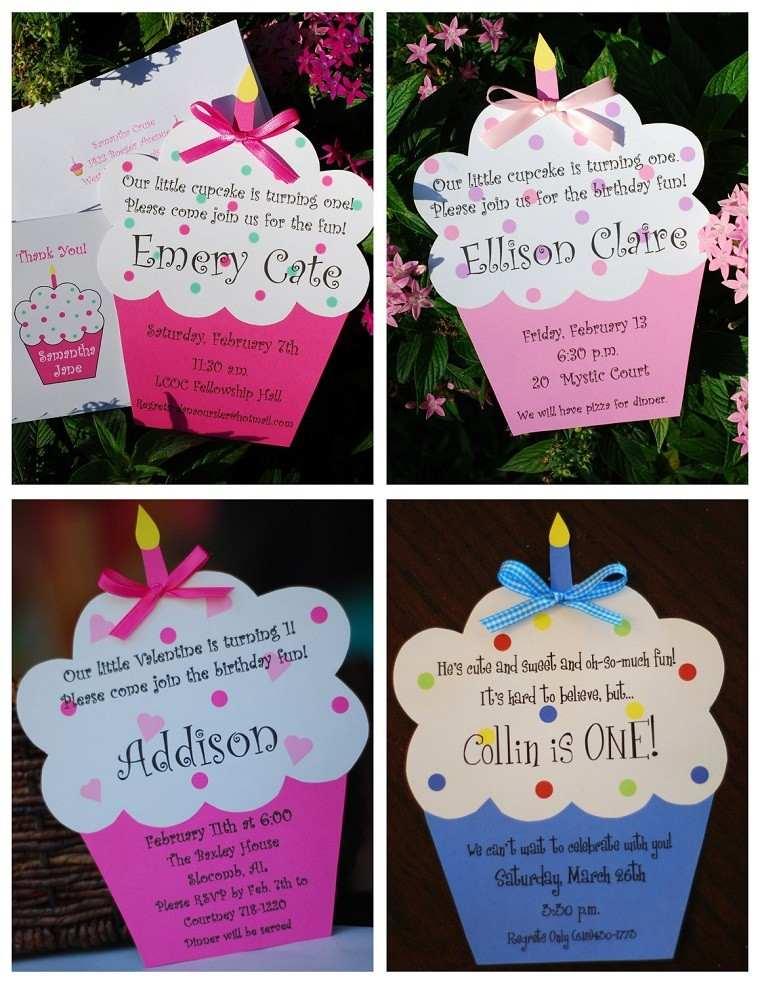 invitaciones de cumpleaños magdalenas coloridas ideas