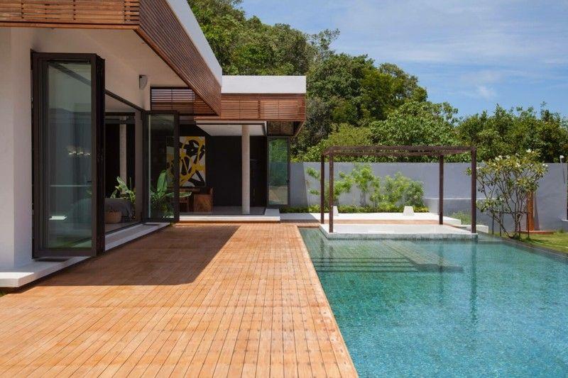 jardin lujoso diseño moderno porche
