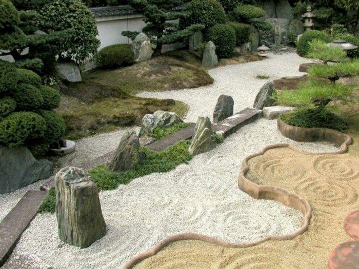 jardin zen tipos arena piedras bonito ideas