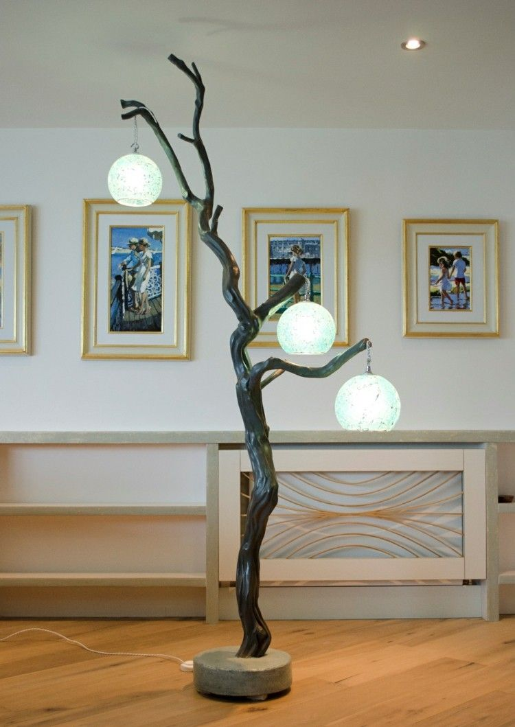 lamparas ideas ramas suelos colores