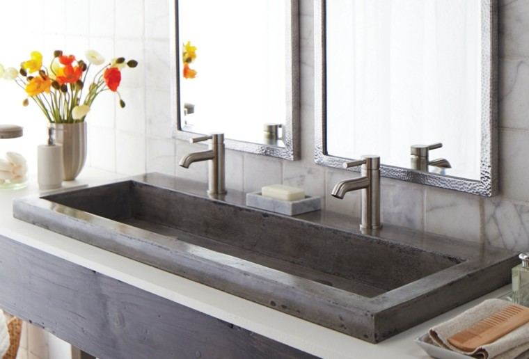 lavabo grande cemento color gris