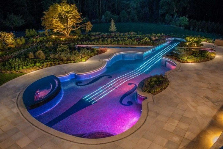 led ideas violin musica jardines arboles