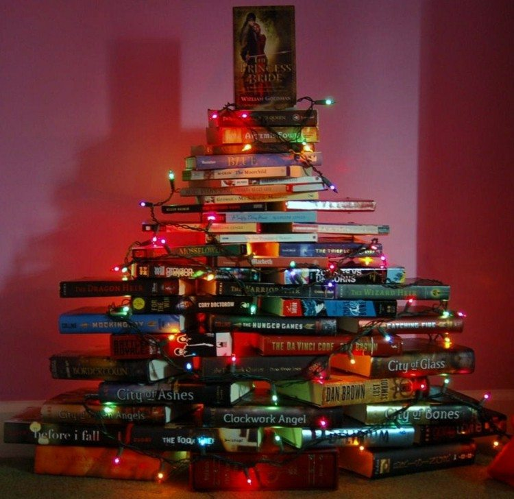 libros arboles navidad soluciones luces