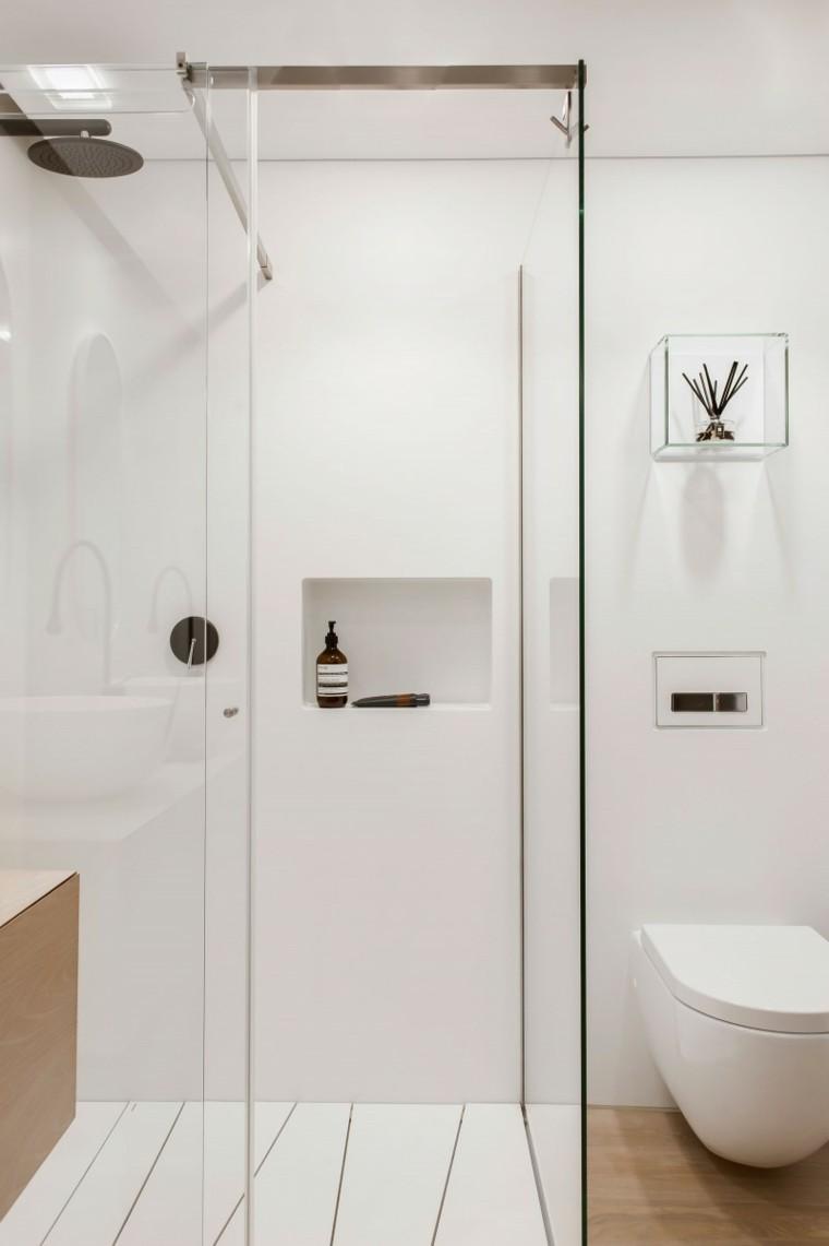 Medio Baño Minimalista:Baños modernos con ducha 50 diseños impresionantes -