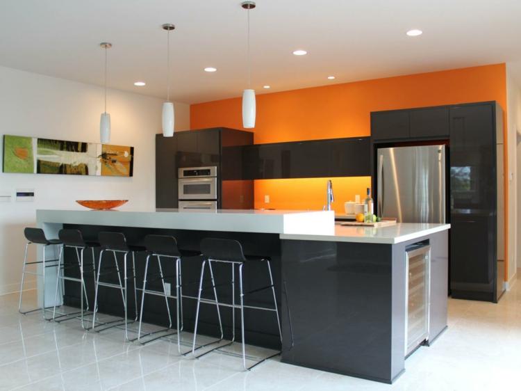 lineales ideas decorado cuadros naranja