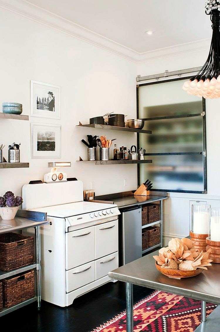 lineas cocina diseños elegante muebles metales