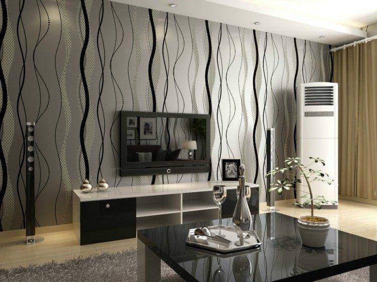 lineas paredes decorado jarrones musica