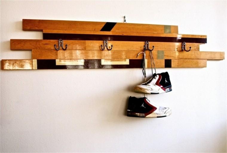 listones madera palet perchas modernas