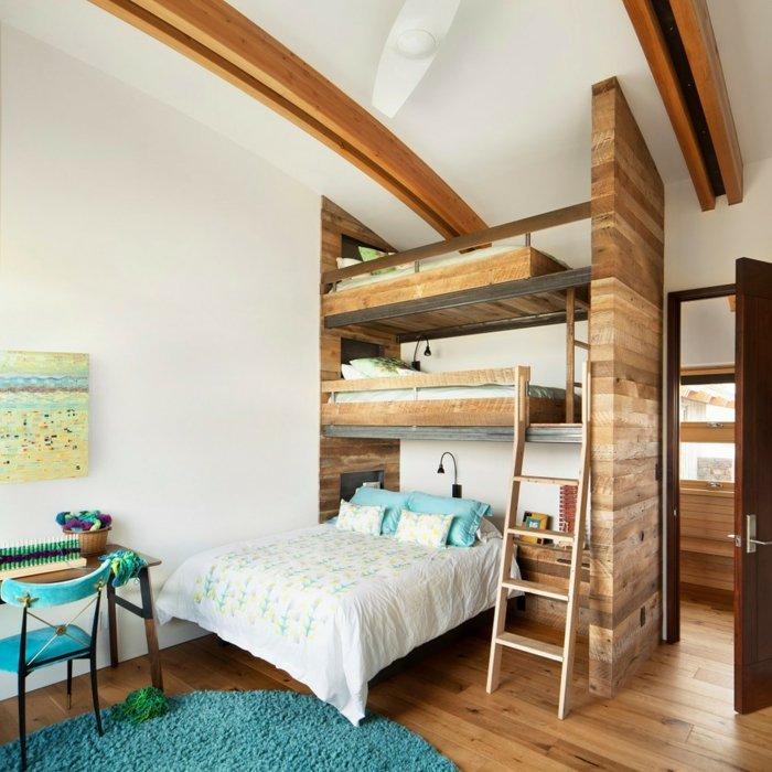 literas habitacion infantil alfombras detalles azules