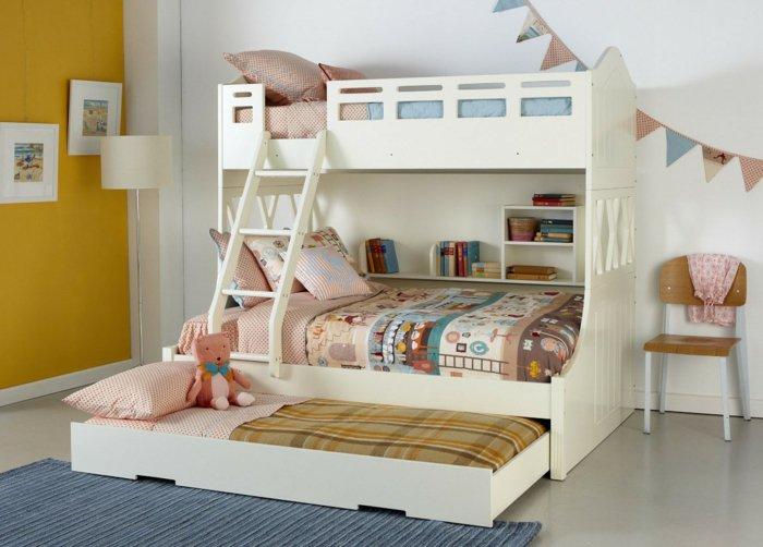 literas habitacion infantil cojines acentos amarillo
