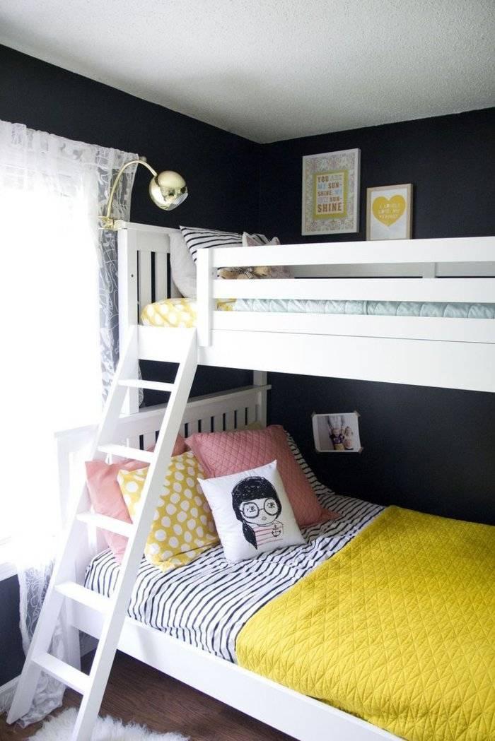 literas habitacion infantil cojines amarillo cojines