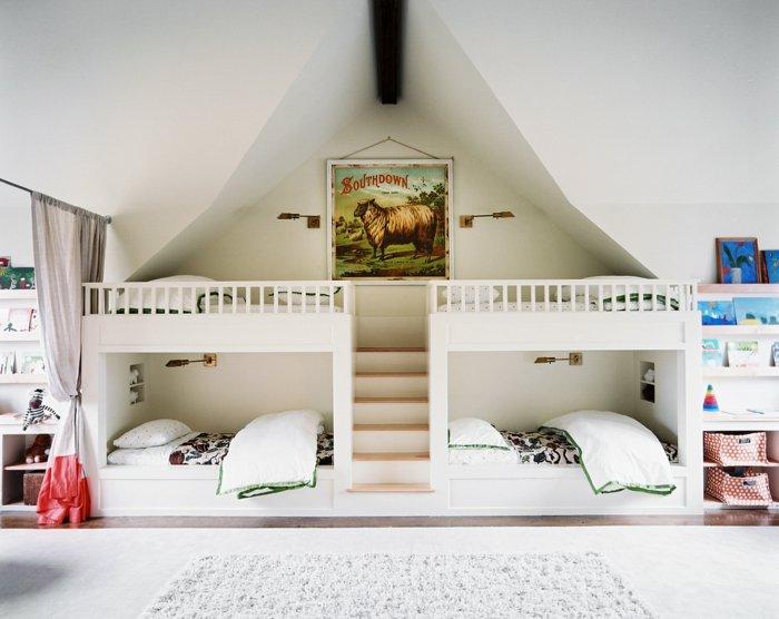 literas habitacion infantil colores cortinas cuadros