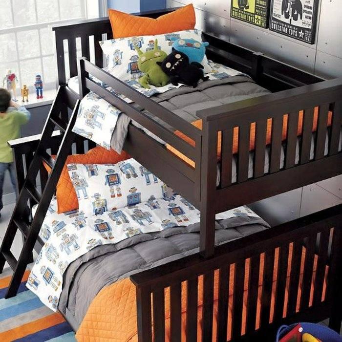 literas habitacion infantil escaleras juguetes naranja