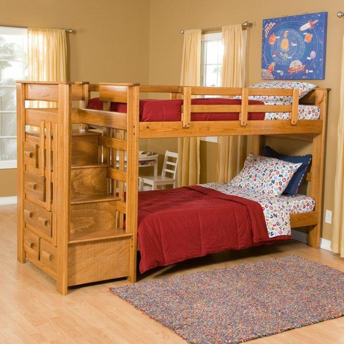 literas habitacion infantil luminoso alfombras rojo