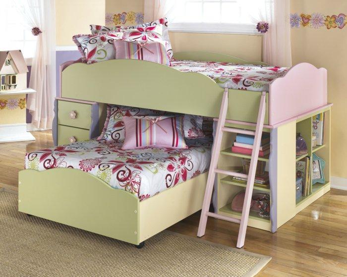 literas habitacion infantil niños cortinas escaleras