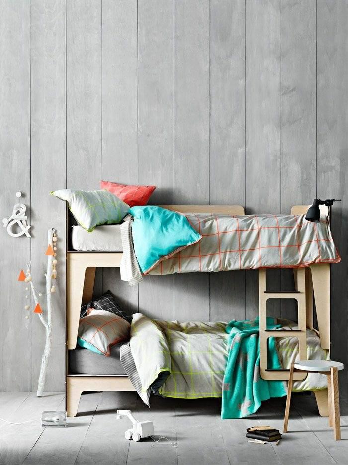 literas habitacion infantil ramas blanco cuerdas