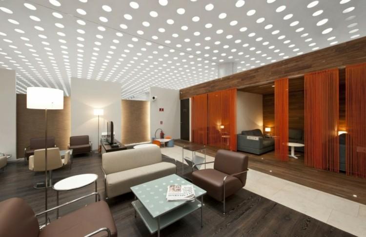 luces redondas techo moderno led