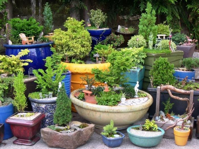 Adornos jardin e ideas originales en 100 im genes for Macetas pequenas