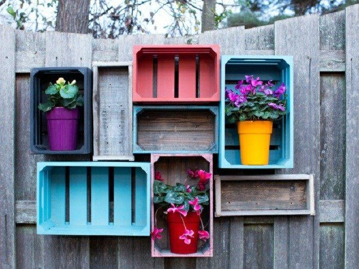 Adornos jardin e ideas originales en 100 im genes - Maceteros para pared ...