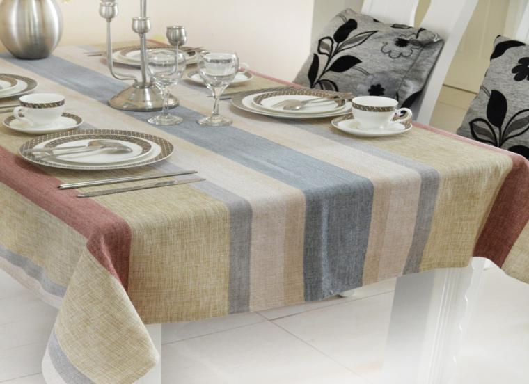 Arpillera para decorar la mesa 50 manteles r sticos - Ideas para hacer manteles ...