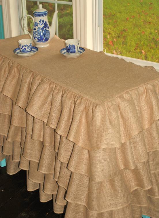 Arpillera para decorar la mesa 50 manteles r sticos for Manteles individuales de tela
