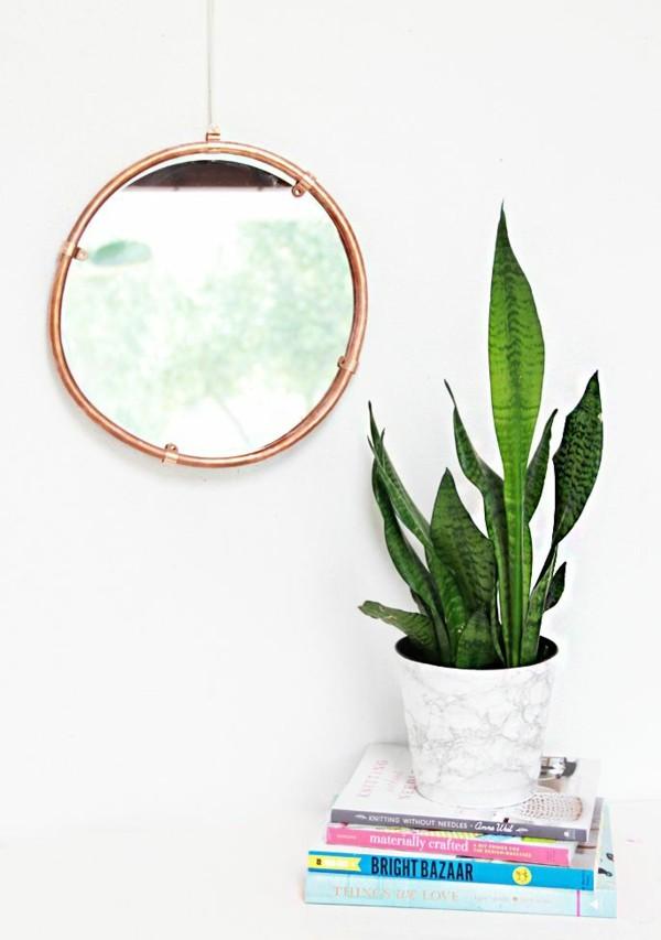 marco espejo tuberia cobre redonda