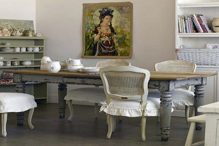 mesa comedor cuadro estilo retro