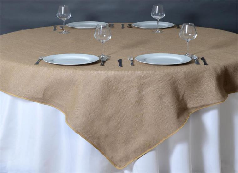 mesa elegante mantel tela saco