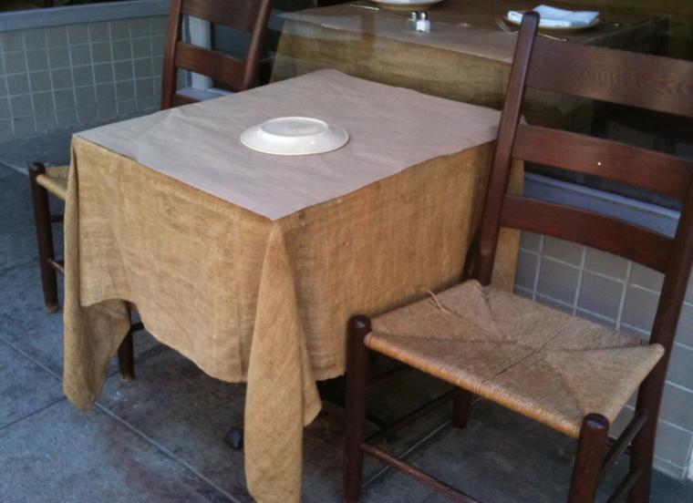 manteles mesas exterior tela saco