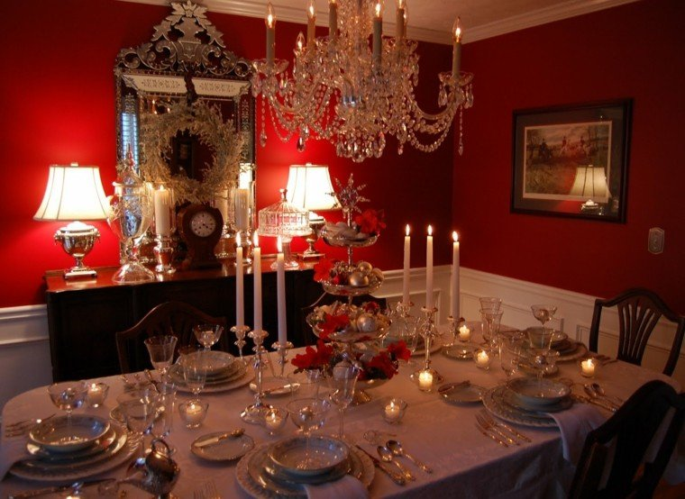 mesa lujosa cena navidad