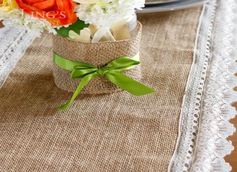 Arpillera para decorar la mesa 50 manteles r sticos - Ideas rusticas para decorar ...