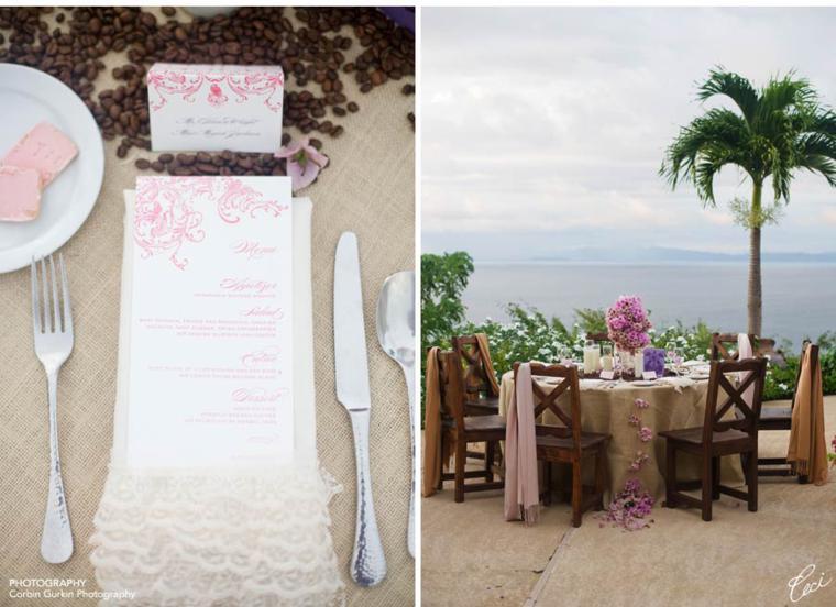 mesas boda deco tela saco
