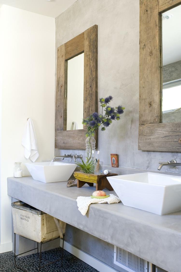 microcemento baños decorado cajones cristales