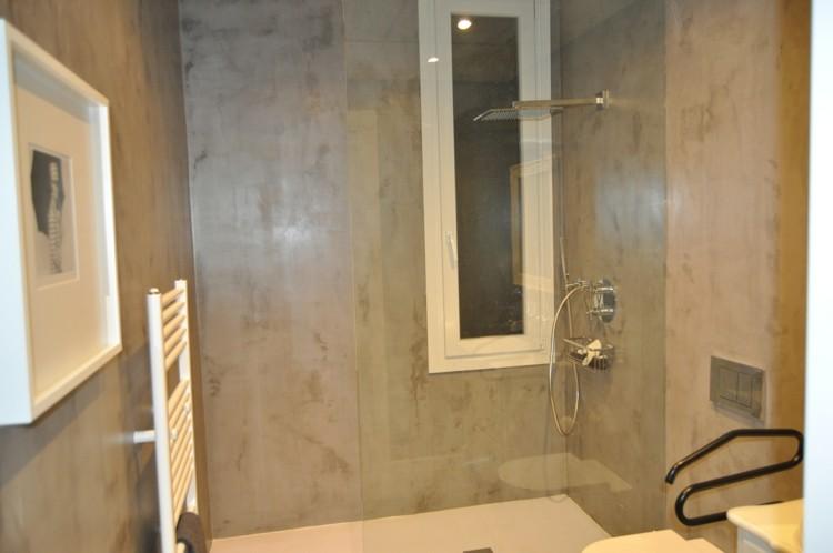 microcemento baños decorado cuadro fotos