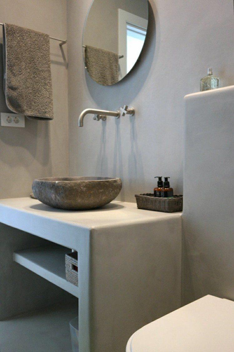 Microcemento ba os con cubiertas frescas y atractivas - Banos con microcemento alisado ...