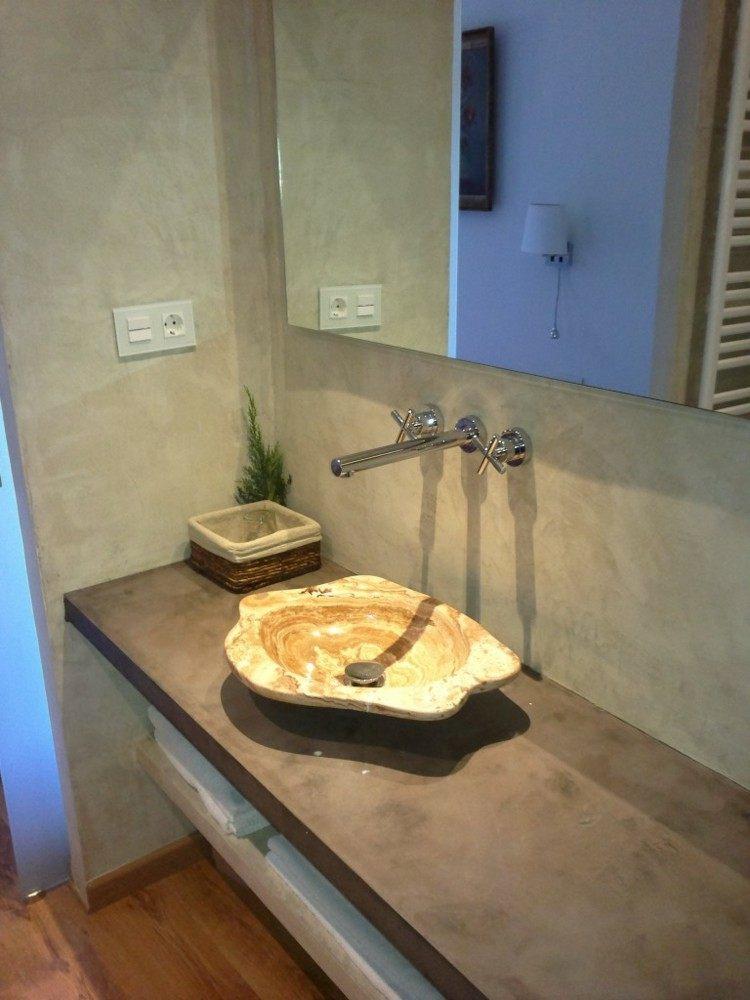 microcemento baños decorado plantas ideas